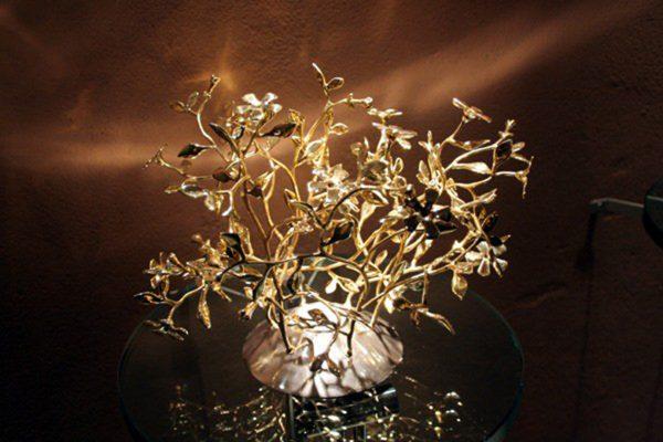 AD driade candelabro in ottone