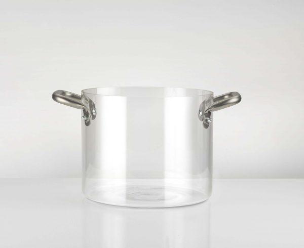 pentola in vetro borosilicato trasparente