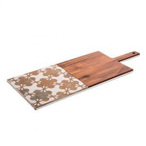 tagliere in metallo, porcellana e legno per knindustrie