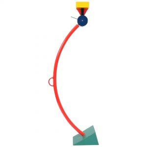 lampada in acciaio del designer sottsass